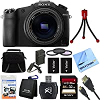 Sony Cyber-shot DSC-RX10M II DSC-RX10M2 RX10M2 4K Video 20.1 MP Digital Camera 32GB Card Bundle includes Sony DSC-RX10M II Cyber-shot Digital Camera, Screen Protectors, Gadget Bag, Memory Card Wallet, Card Reader, 32GB Memory Card, HDMI Cable Beach Camera Cloth and More Benefits Review Image