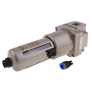 FLAMEER Unidad Neumática del Tratamiento del Aire del Filtro para La Separación del Agua del Aceite del Compresor: Amazon.es: Coche y moto