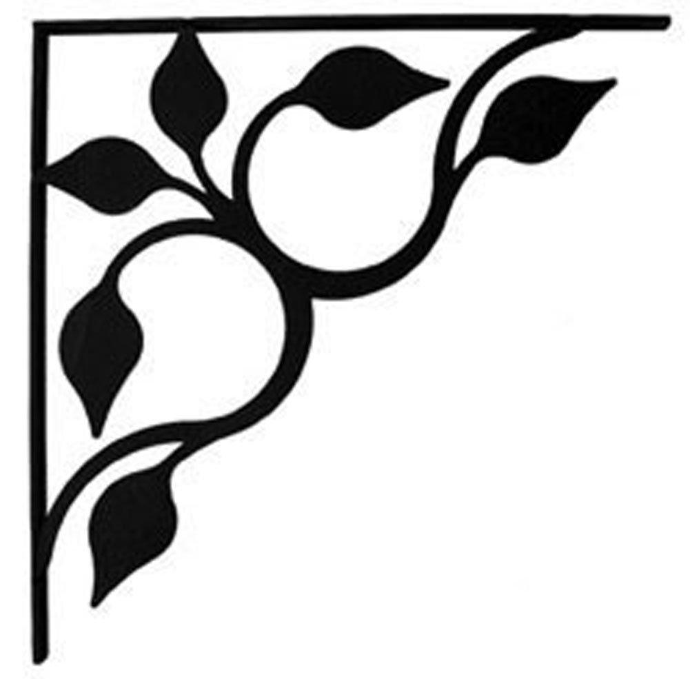 Amazon.com: Wrought Iron Leaf Fan Shelf Brackets Corner Accent 8 ...