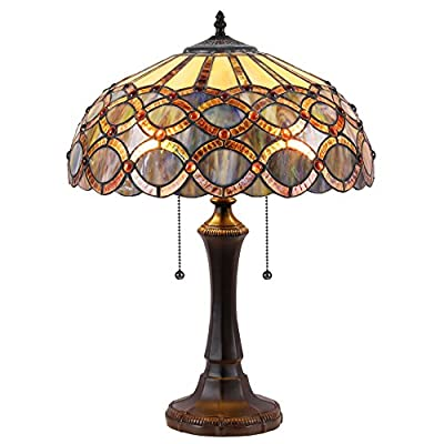 """Chloe Lighting CH38435GG16-TL2 Prisma Tiffany-Style Table Lamp with 16"""" Shade"""