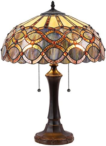Chloe CH38435GG16-TL2 Prisma Tiffany-Style Table Lamp with 16 Shade