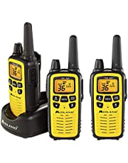 Midland Consumer Radio LXT630X3VP3 36-Channel Gmrs Radio With 30-Mile Range Noaa Weather Alert, Yellow (Pack of 3)