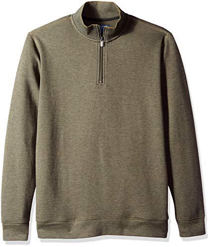 Cole Haan Men's Birdseye 1/4 Zip Knit Sweater, sea Turtle, -