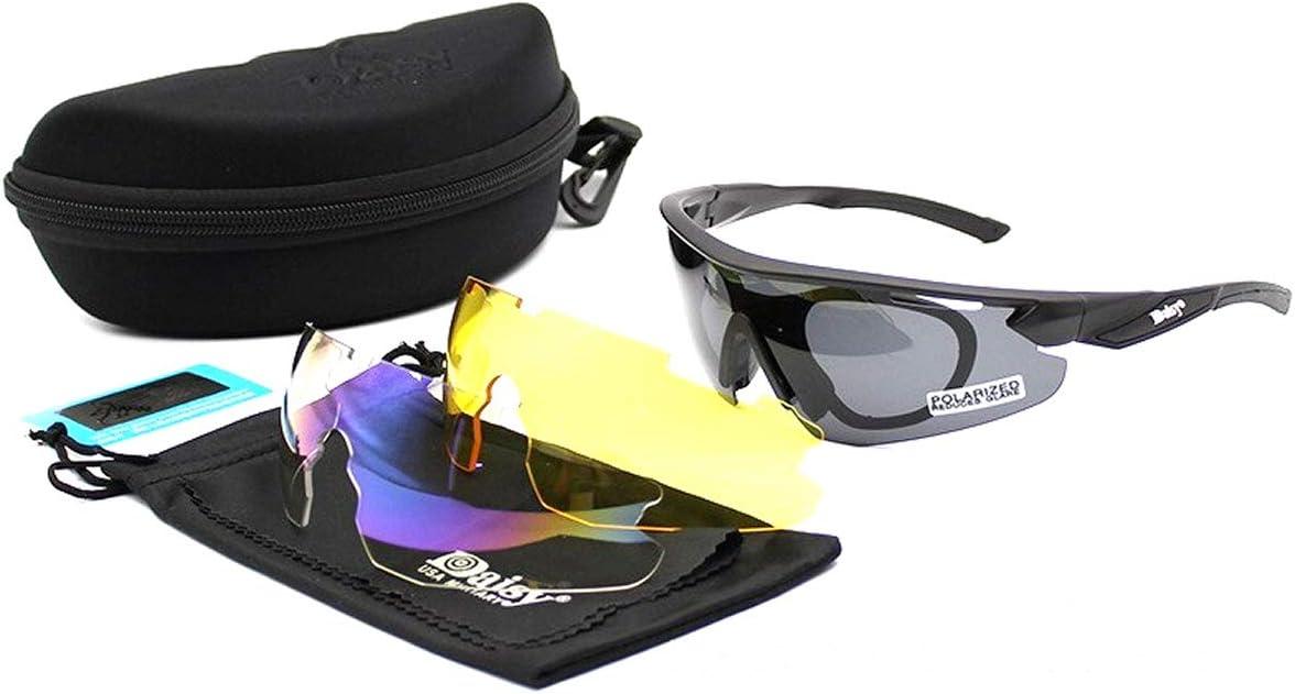 VENTURA TRADING Nuevo Daisy C8 Gafas de Sol polarizadas Ejército táctico Militar Gafas del ejército Gafas al Aire Libre Gafas de Sol con 3 Lentes para ...