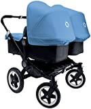 Bugaboo Donkey Complete Twin Stroller - Ice Blue - Black Black