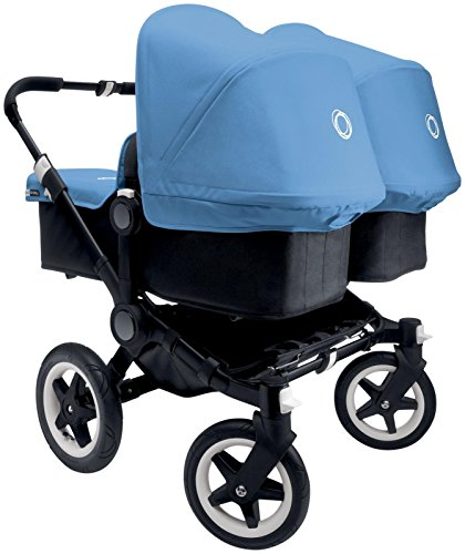 Bugaboo Donkey Complete Twin Stroller - Ice Blue - Black/...