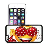 Luxlady Premium Apple iPhone 6 Plus iPhone 6S Plus Aluminum Backplate Bumper Snap Case IMAGE ID: 23151265 Funny smile with and red lingerie with white polka dots a series of adult party