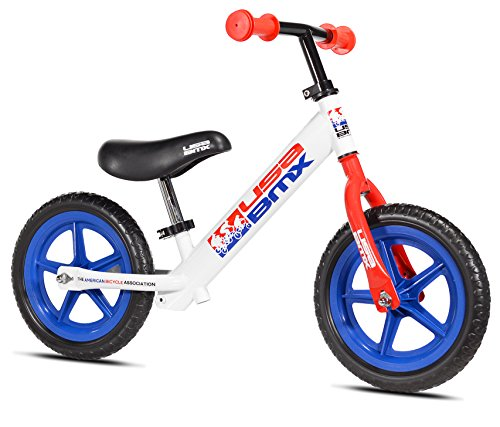 "USA BMX Balance Bike, 12"" , White/Red/Blue, White/Red/Red..."