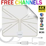 HDTV Antenna Indoor Digital TV Antenna, 50 Miles Range HD Antenna with Detachable