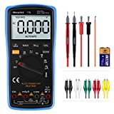 Digital Multimeter Morpilot Auto Ranging 6000 Counts DCAC Voltage  Current Resistance Frequency Continuity Capacitance Diode Temperature 3.0 Inch Backlight Large LCD Display