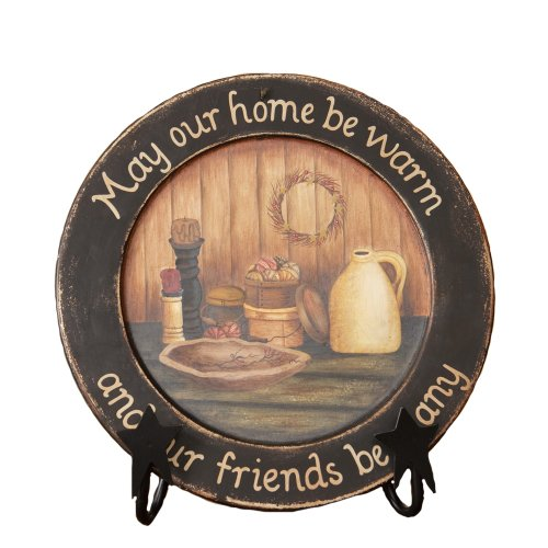 "Your Heart's Delight ""May Our Home Wooden Plate, 11-5/8-Inch"