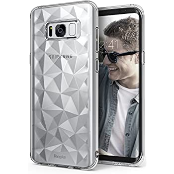Galaxy S8 Plus Case, Ringke [AIR PRISM] 3D Vogue Design Chic Ultra Rad Pyramid Stylish Diamond Pattern Flexible Jewel-Like Textured Protective TPU Cover for Samsung Galaxy S8 Plus - Clear