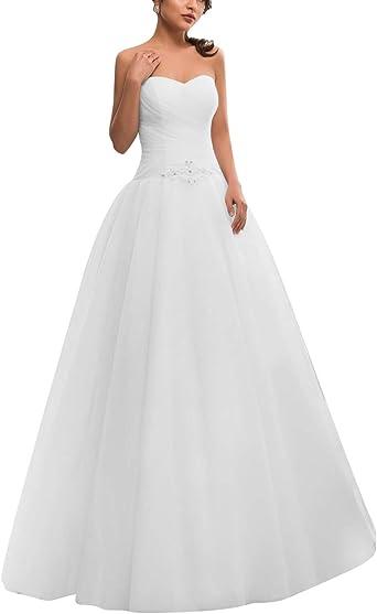 VKStar® Robe Bustier Femme Mariage Longue