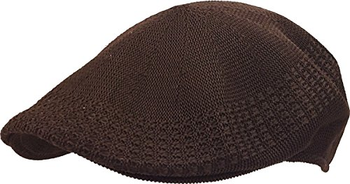 (KBETHOS KBM-001 BRN XL Classic Mesh Newsboy Ivy Cap Hat (21 Colors / 4 Sizes) Brown)