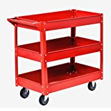 Muscle Carts SC3216-RED Teel Industrial Commercial Service Cart, 220 lb.