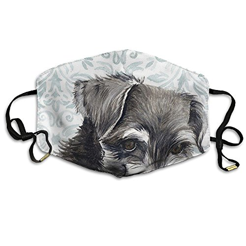 KJDS Unisex Mouth Mask Schnauzer Cute Dog Fashion