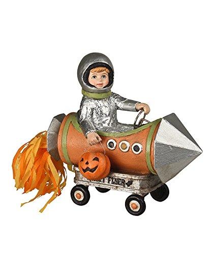 Bethany Lowe Halloween Little Rocket Boy Blast Off Figurine -