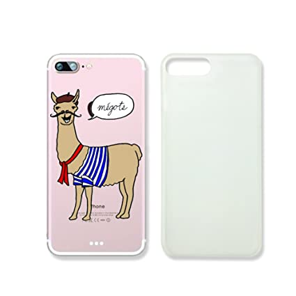 new concept 3769d 9fb4a Amazon.com: Cute Llama French Slim Iphone 7 Case, Clear Iphone Hard ...