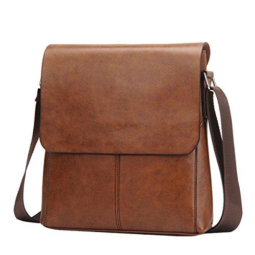 Shoulder Bag Men Messenger Bag Casual Bag Large Capacity Wallet Brown