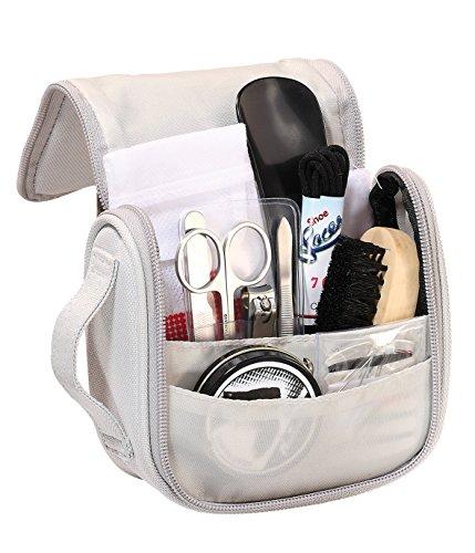 elasto Reiseset Kulturbeutel Merton Bestehend aus Schuhputzset und Körperpflegeset in Kompakter Tasche