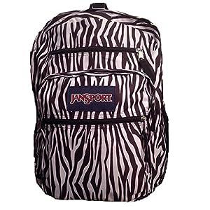 JanSport Big Student Backpack- Discontinued Colors (Black/White Zebra Stripe)