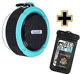 Waterproof Floating Bluetooth Speaker | Portable Wireless Outdoor, Swimming Pool, Shower Water-Resistant Bluetooth Speaker with Suction Cup, Built-in Mic, Hands-Free Speakerphone