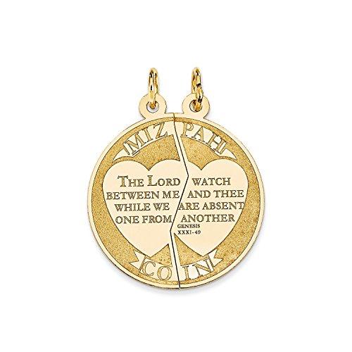 Roy Rose Jewelry 14K Yellow Gold Mizpah Charm