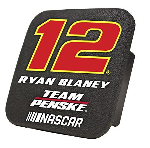 (Ryan Blaney #12 Rigid Rubber Plastic Hitch Cover Plug Bumper Trailer Auto Nascar Racing)