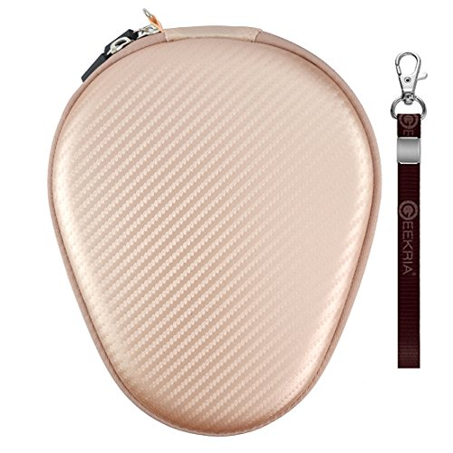 Geekria Hardshell Carrying Case for Sony WI1000X H700 C400 Sbh70 EX750BT, LEOPHILE EEL IP67, Titimor Ansot M1, Bluenin Stereo Neckband Wireless Headset Earbuds Protective Travel Bag (Rosegold)