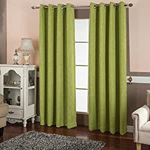 Best Dreamcity Room Darkening Thermal Insulated Solid Grommet Linen Look Blackout