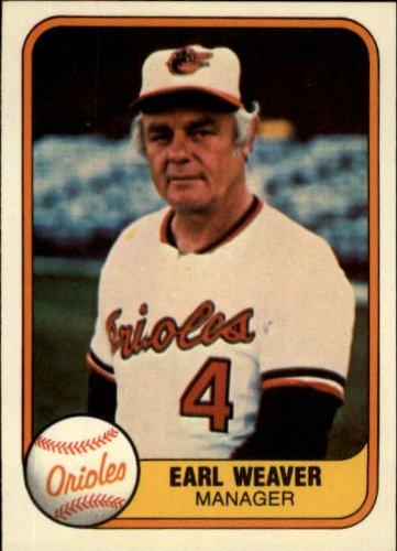 - 1981 Fleer #178 Earl Weaver Baltimore Orioles MG