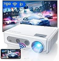 Vidéoprojecteur WiFi 5G Bluetooth Full HD, 7500L WiMiUS Natif 1080P Portable Rétroprojecteur Soutiens 4K, Keystone et...