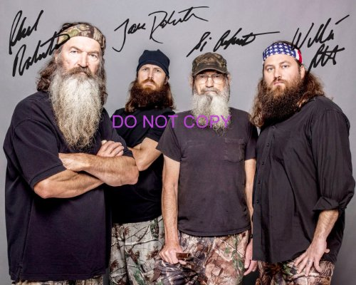 Duck Dynasty cast reprint signed photo #2 Willie Si Jase Phil Robertson RP - Robertson Signed Photo