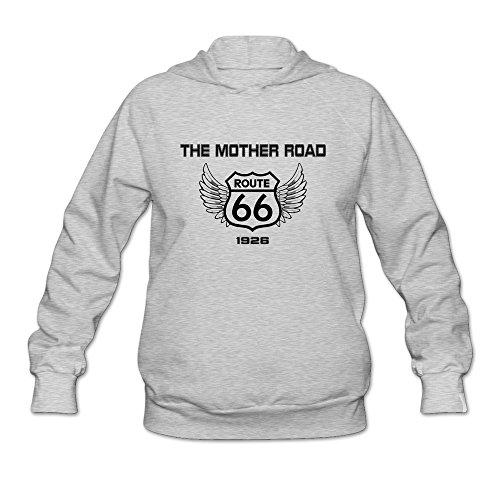 Tea Time Women's Hooded Sweatshirt Route 66 Ash Size XXL