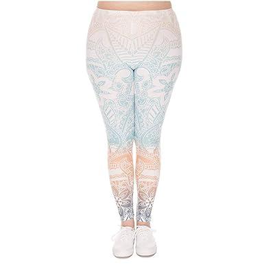 Pantalones De Yoga Leggings Mujeres Menta Mandala Impreso ...