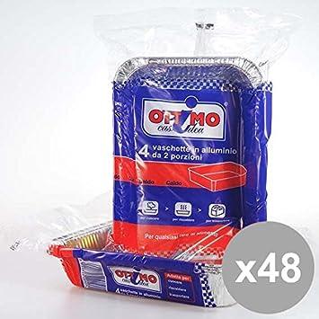 Set 48 OTTIMO Alluminio 2 Porz.S/C 4Pz Prodotti per la cucina ...