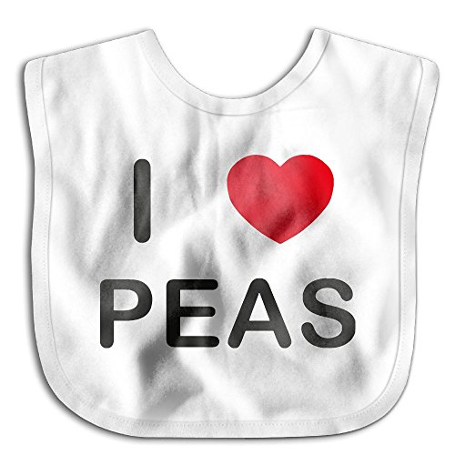 Price comparison product image I Love Peas Infant Baby's Skin-friendly Saliva Towel Bibs