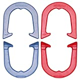 Horseshoes- Imperial- Top-Level Pro Model, made in USA! (Red & Blue (Two Pair Set (4 shoes))