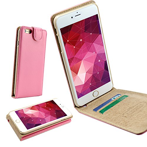 Iphone 6/6s Ultra-Soft Second Layer PU Mix Light Pink Leather Flip Case Cover with Two Card Slot for Apple Iphone 6/6s by G4GADGET®