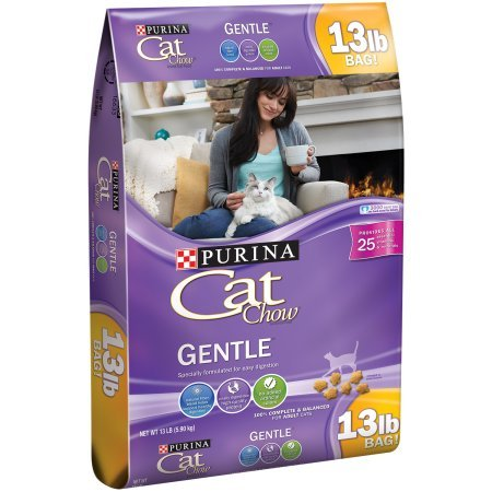 Purina Cat Chow Gentle Dry Cat Food (13 lb. Bag Pack of 3)