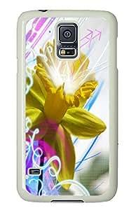 Samsung S5 case spec cases Daffodill Abstract PC White Custom Samsung Galaxy S5 Case Cover