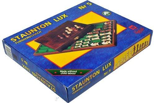 Coffret pions Echiquier Staunton n/°5 plomb/és luxe