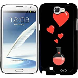 Funda para Samsung Galaxy Note 2 (GT-N7100) - Friki Frasco De Corazones by Boriana Giormova