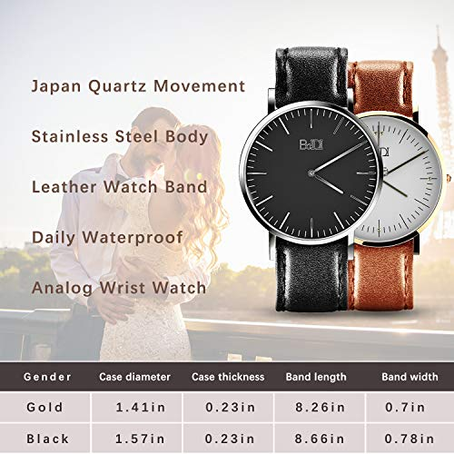 BaIDI Wrist Watch, Women Quartz Watch with Second Hand, 20M Waterproof Watch Sports Fashion Gift