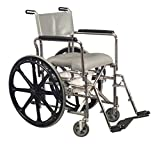 cushioned toilet seat with handles Pivit Cushioned Rehab Shower Commode & Wheelchair, 17 ¼