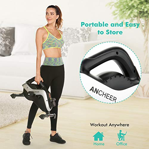 ANCHEER-Pedal-Exerciser-Under-Desk-Cycle-Mini-Exercise-Bike-for-Leg-and-Arm-Exercise-with-LCD-Monitor
