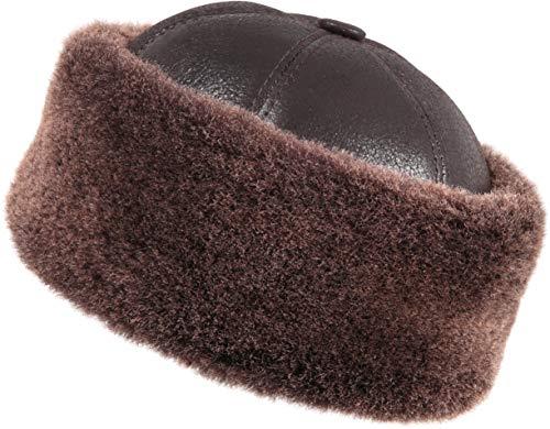f7685e9ab4c Jual Zavelio Unisex Shearling Sheepskin Winter Fur Beanie Hat ...