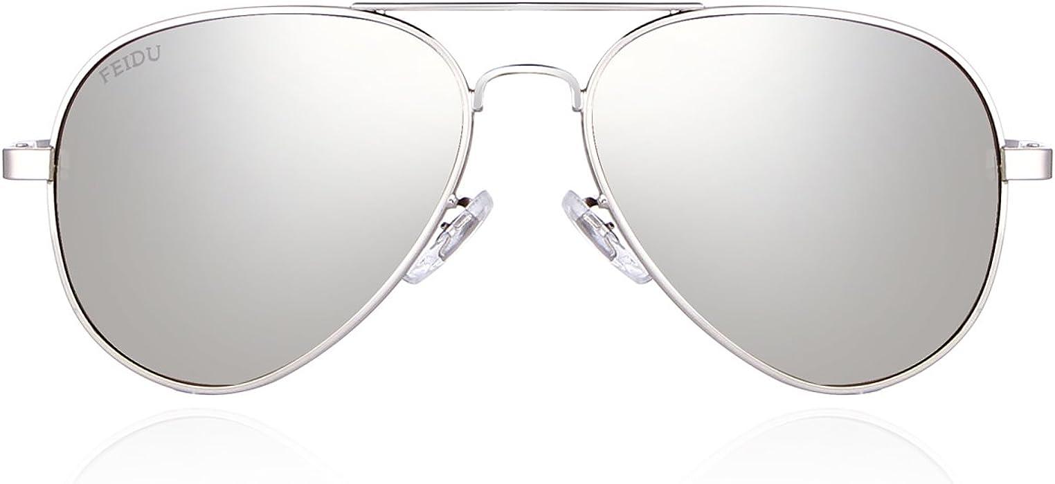 5072a6f0cb FEIDU Mens Polarized Aviator Sunglasses Metal Frame Unisex Sun Glasses  FD9001