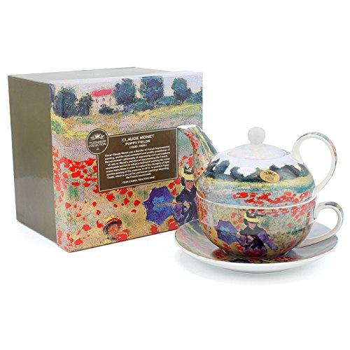 Lesser & Pavey Claude Monet Poppy Field Tea For One, Multi-Colour LP92778A