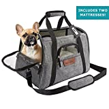 Airline Approved Pet Carrier – Soft Sided Portable Travel Bag with Mesh Windows and Fleece Padding – for Small Dogs and Cats – Fits Under Airplane Seat Review